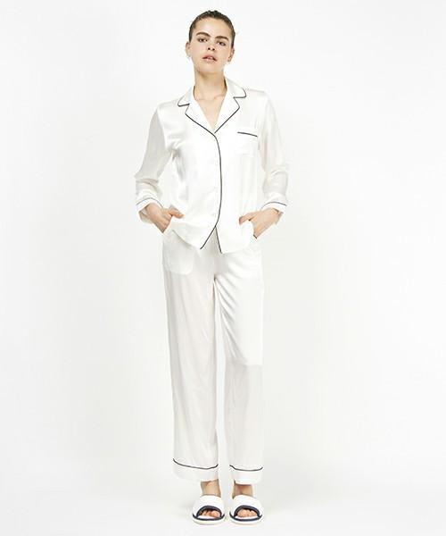 シルク長袖トップスパジャマ