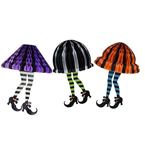 ハロウィン飾り 魔女のスカート 「3個セット」ハンギング デコレーション ハニカムボール インテリア SUNBEAUTY