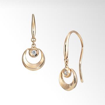 DIAMOND FALL PIERCED EARRINGS STAR JEWELRY