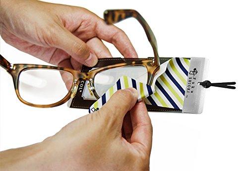 眼鏡やスマホ画面を拭くことができるメガネクリーナー付ブックマーク