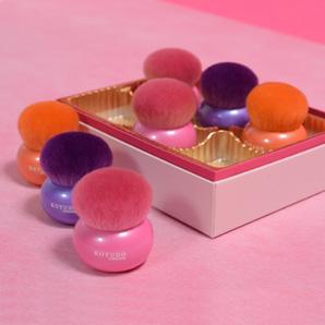 熊野筆 マカロン チークブラシ ピンク