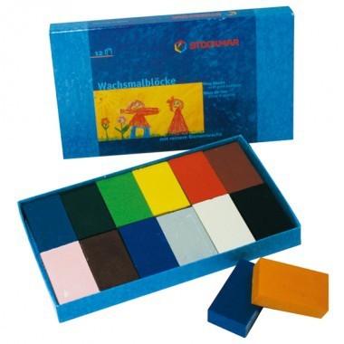 ブロッククレヨン 12色紙箱