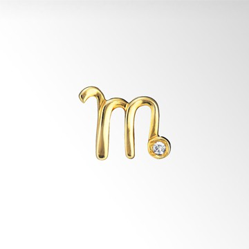 STAR JEWELRY Girl INITIAL PIERCED EARRING (m)