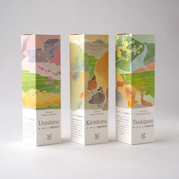 日本の和紅茶を楽しむ 【有機嬉野和紅茶(50g)、有機霧島和紅茶(50g)、有機月ヶ瀬和紅茶(30g)】