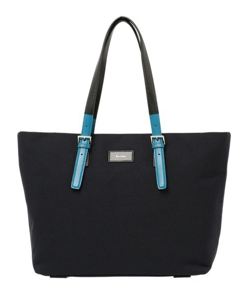 COLORED TIP CANVAS TOTE BAG