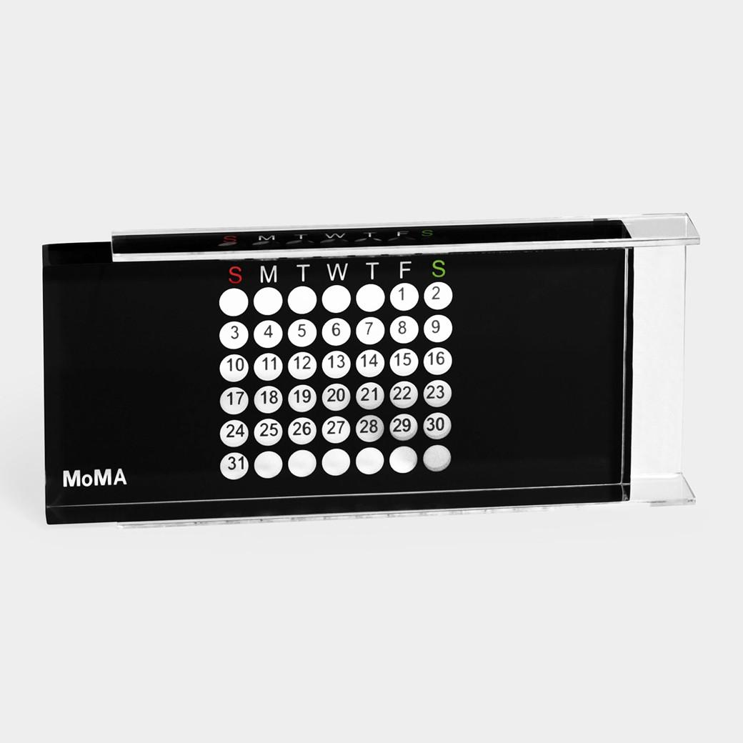 MoMA アクリル万年カレンダー ブラック