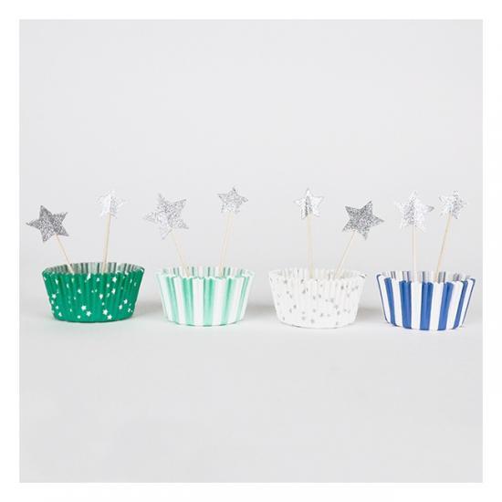 【Meri Meri メリメリ】 カップケーキ キット ブルー 【blue cupcake kit】(45-1211)