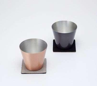 純銅製カップ2個セット マット&ブラウン