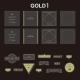# Photogenic Clear gold  [M](DIYアルバム)( 柄 Gold 1  )