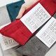 スムースリブソックス(メンズ靴下)( カラー | レッド & ダークグレー  )